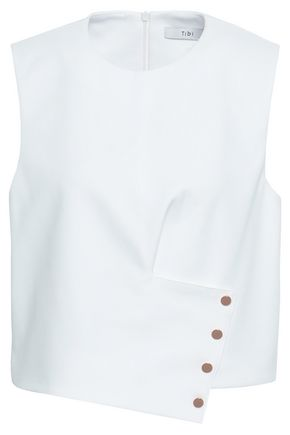 TIBI Button-embellished cady top