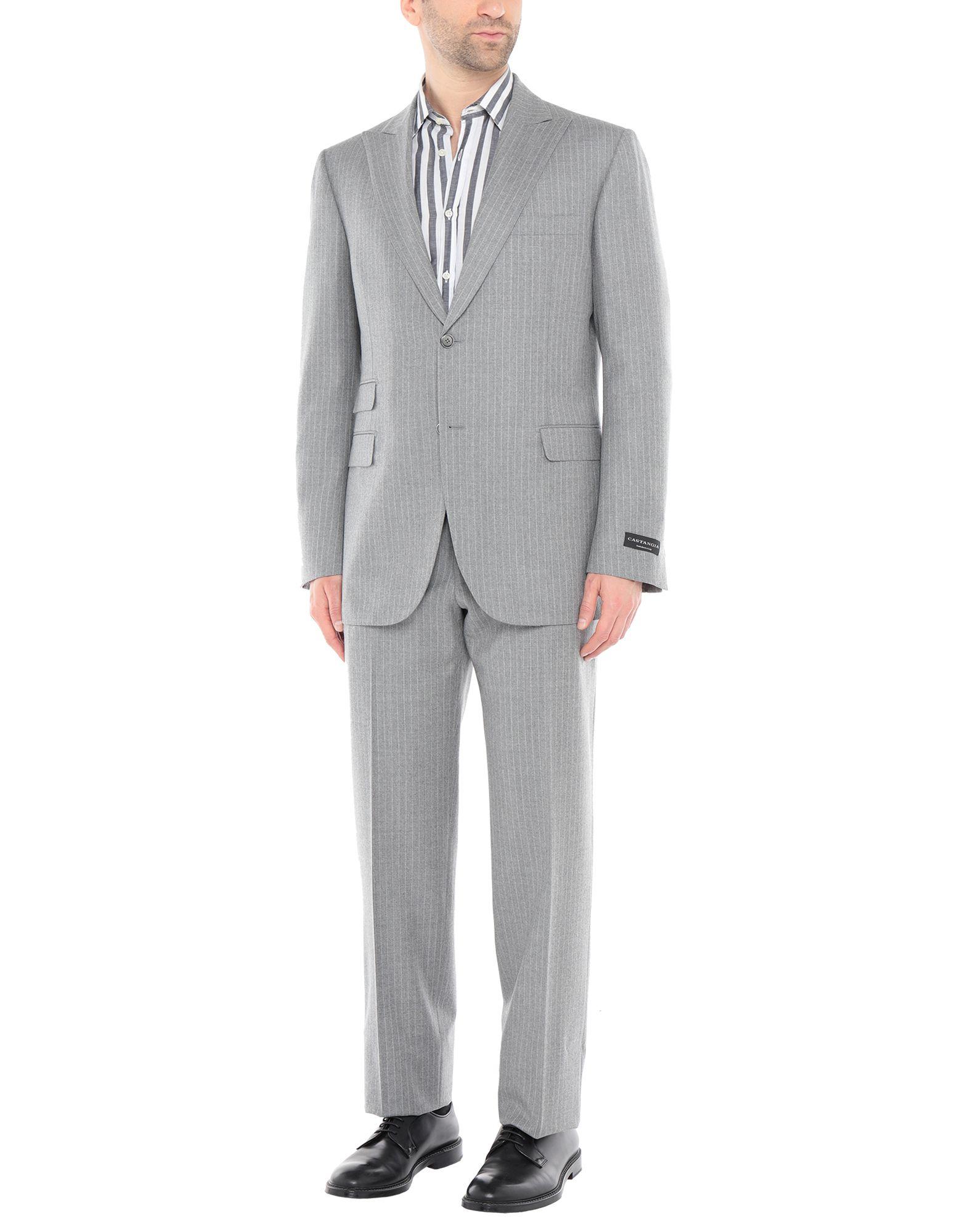 《送料無料》SARTORIA CASTANGIA メンズ スーツ グレー 52 ウール 100%