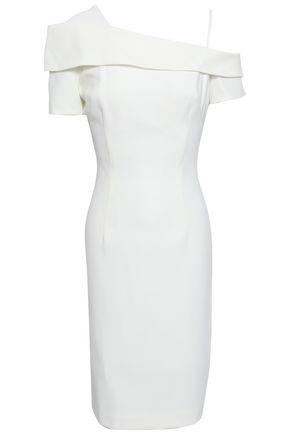 BLACK HALO Cold-shoulder cady dress