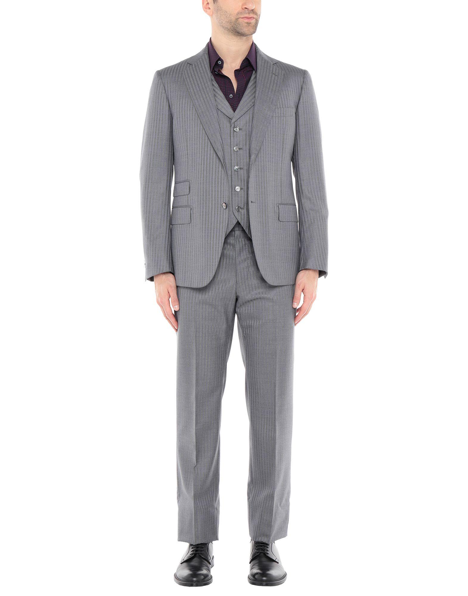 《送料無料》SARTORIA CASTANGIA メンズ スーツ グレー 50 ウール 98% / カシミヤ 2%
