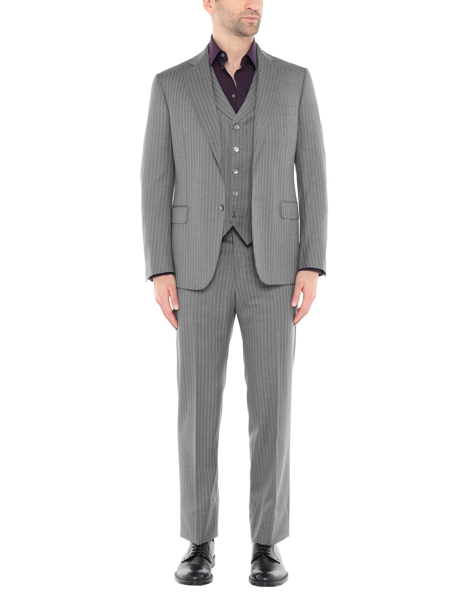 《送料無料》SARTORIA CASTANGIA メンズ スーツ グレー 50 スーパー130 ウール 100%
