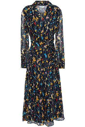 EQUIPMENT Vivienne wrap-effect floral-print silk-chiffon midi dress