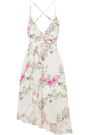 EQUIPMENT + Tabitha Simmons Estille wrap-effect floral-print crepe de chine slip dress
