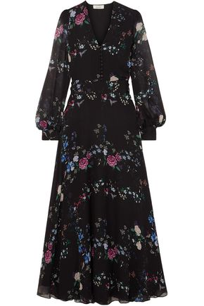 EQUIPMENT + Tabitha Simmons Clemense floral-print silk-chiffon maxi dress