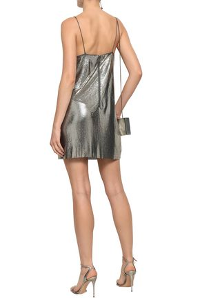 ALICE + OLIVIA Chainmail mini dress