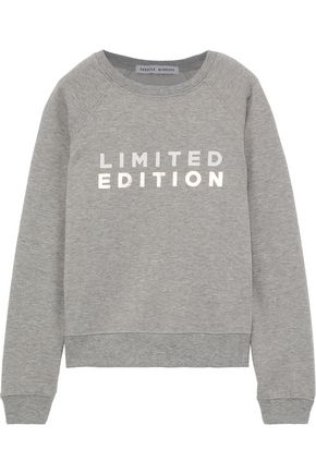 REBECCA MINKOFF Limited Edition printed French cotton-blend terry sweatshirt