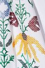 CAROLINA HERRERA Embroidered cotton-blend poplin midi shirt dress