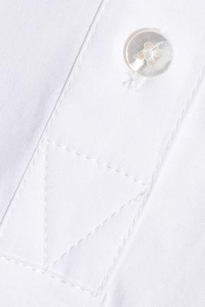 CAROLINA HERRERA Cotton-blend poplin blouse