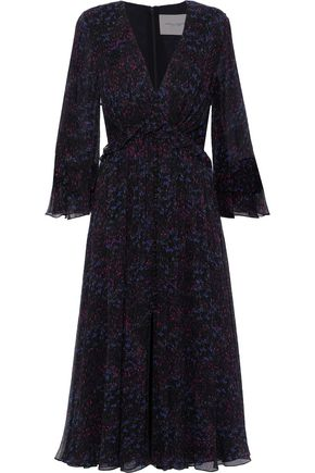 CAROLINA HERRERA Printed silk-georgette midi dress