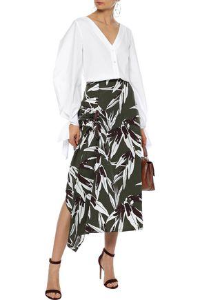 73c9060310 CAROLINA HERRERA Pleated stretch-cotton poplin blouse