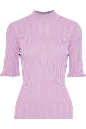 CAROLINA HERRERA Ribbed-knit turtleneck top