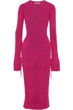 CAROLINA HERRERA Ribbed-knit midi dress