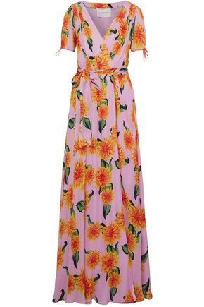 CAROLINA HERRERA Floral-print silk-chiffon maxi wrap dress