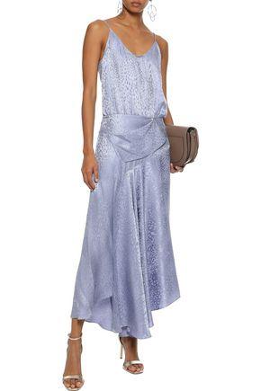 A.L.C. Willa asymmetric silk-jacquard maxi slip dress