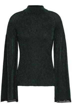 PRINGLE OF SCOTLAND Metallic stretch-knit sweater
