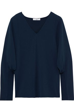 TIBI Washed-crepe top
