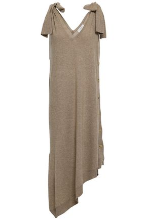PRINGLE OF SCOTLAND Button-detailed cashmere midi dress