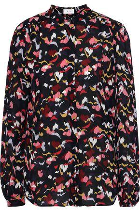 A.L.C. Owens printed silk crepe de chine shirt