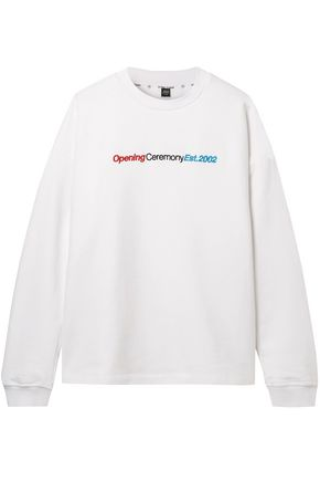 OPENING CEREMONY Cozy embroidered cotton-jersey sweatshirt