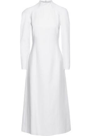CAROLINA HERRERA Silk-cady turtleneck midi dress