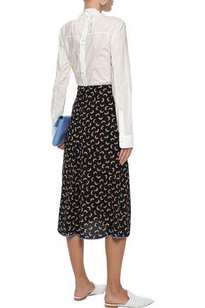 MARNI Gathered cotton-poplin blouse