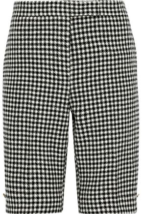 THOM BROWNE Houndstooth wool shorts