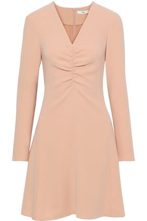 TIBI Ruched stretch-crepe mini dress