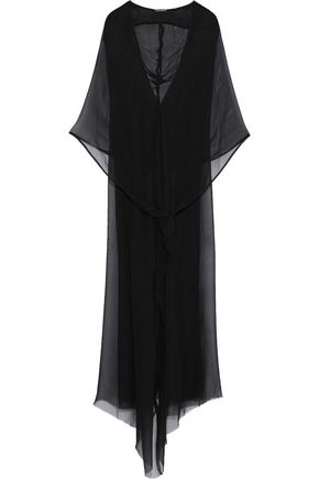 ANN DEMEULEMEESTER Leonora silk-chiffon hooded maxi dress