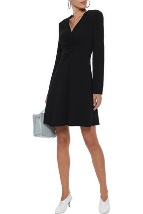 TIBI Ruched stretch-crepe mini dress
