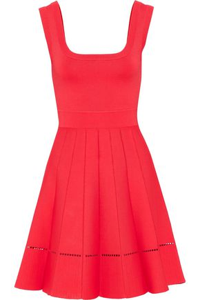 HERVÉ LÉGER Flared pleated bandage mini dress