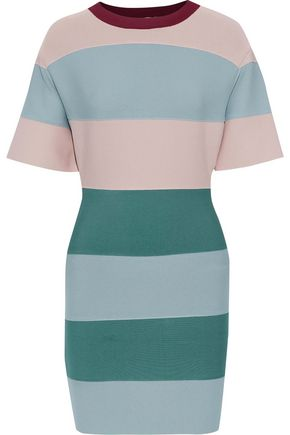 HERVÉ LÉGER Color-block bandage mini dress