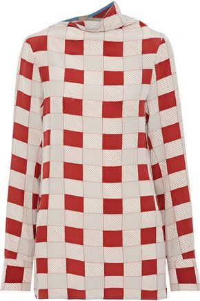 MARNI Checked silk blouse