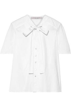 CAROLINA HERRERA Pussy-bow cotton-blend shirt