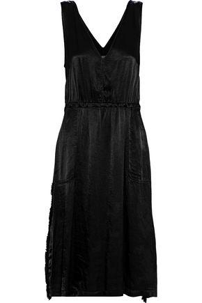 RAQUEL ALLEGRA Frayed sateen dress