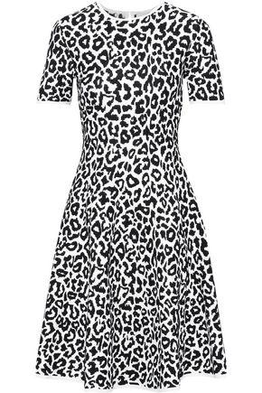 CAROLINA HERRERA Fluted leopard-jacquard dress