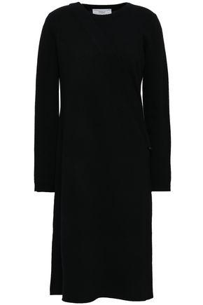 PRINGLE OF SCOTLAND Wrap-effect wool and cashmere-blend midi dress