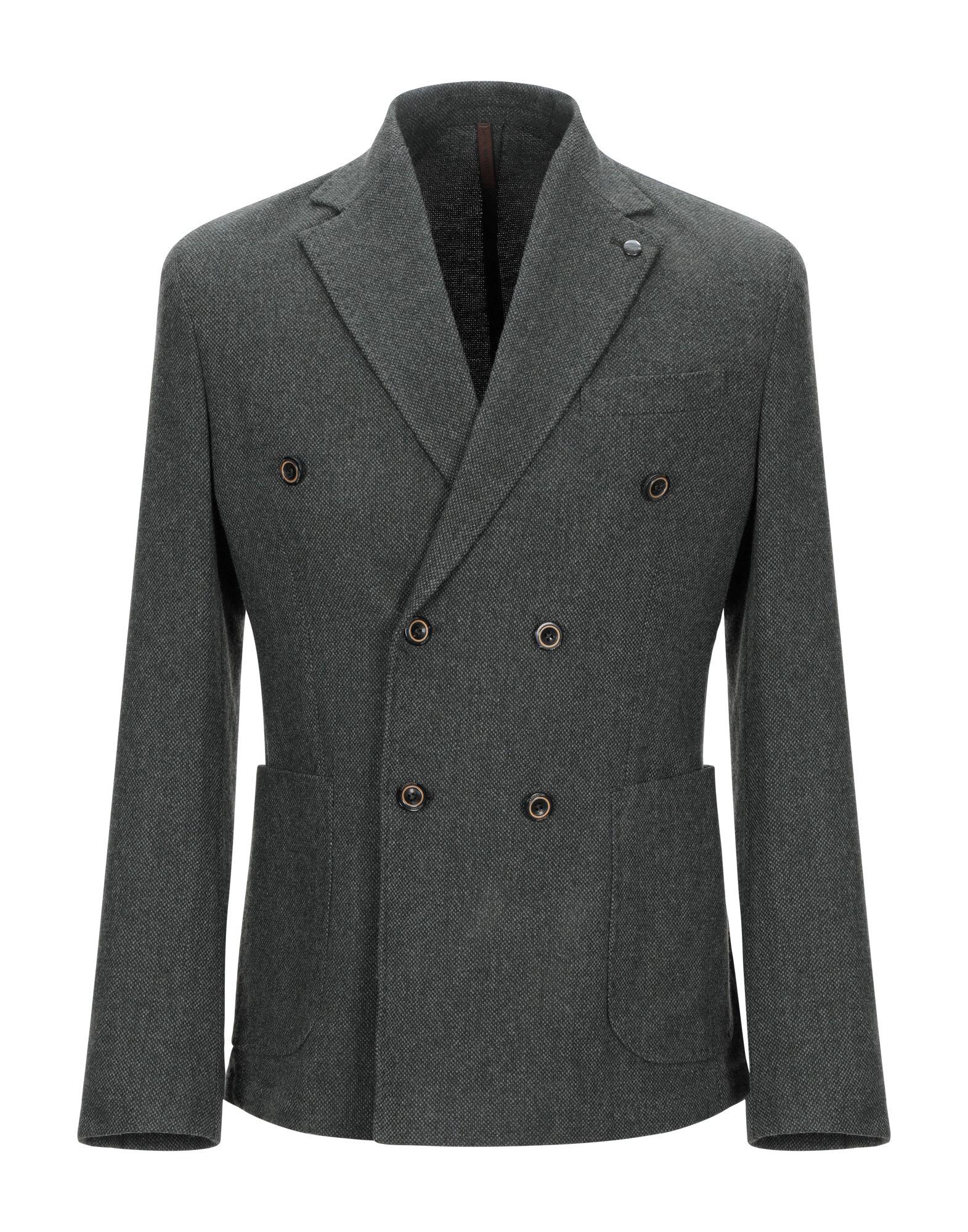 《期間限定 セール開催中》LABORATORI ITALIANI メンズ テーラードジャケット ダークグリーン 48 ウール 80% / ナイロン 20%