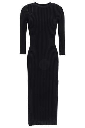 JOSEPH Norma cutout ribbed-knit midi dress