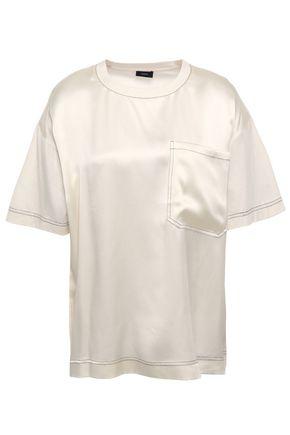 JOSEPH サテンパネル コットンジャージー Tシャツ