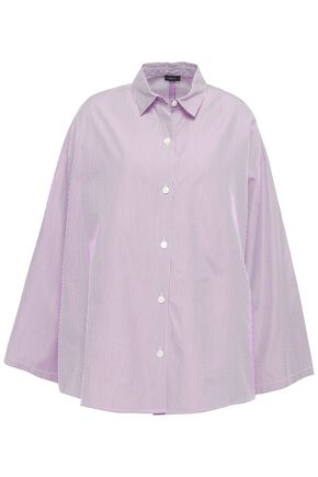 JOSEPH Oversized striped cotton-poplin shirt