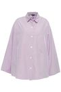 JOSEPH Sino oversized striped cotton-poplin shirt