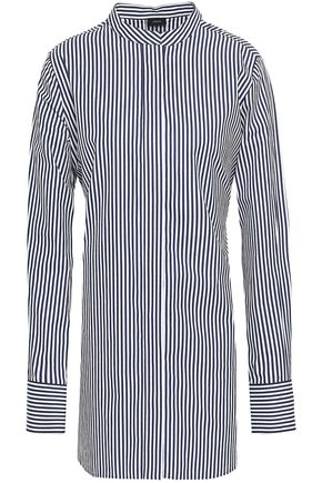JOSEPH Carla tie-back striped cotton-poplin tunic