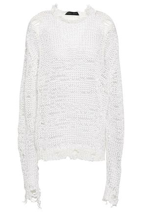 IRO Distressed open-knit sweater