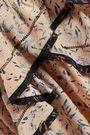 IRO Jicka ruffled printed silk crepe de chine mini dress