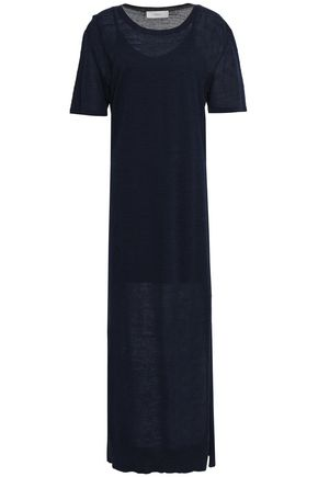 PRINGLE OF SCOTLAND Slub linen-blend maxi dress