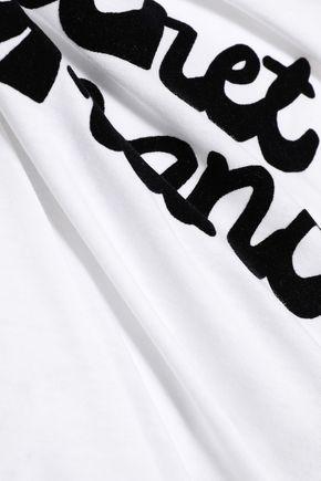 MARKUS LUPFER Kate flocked cotton-jersey T-shirt