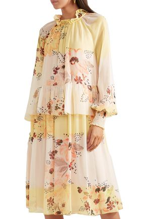 SEE BY CHLOÉ Tiered floral-print georgette dress