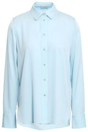 VINCE. Silk-blend crepe shirt