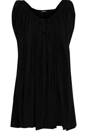 ANN DEMEULEMEESTER Gathered cotton-jersey top