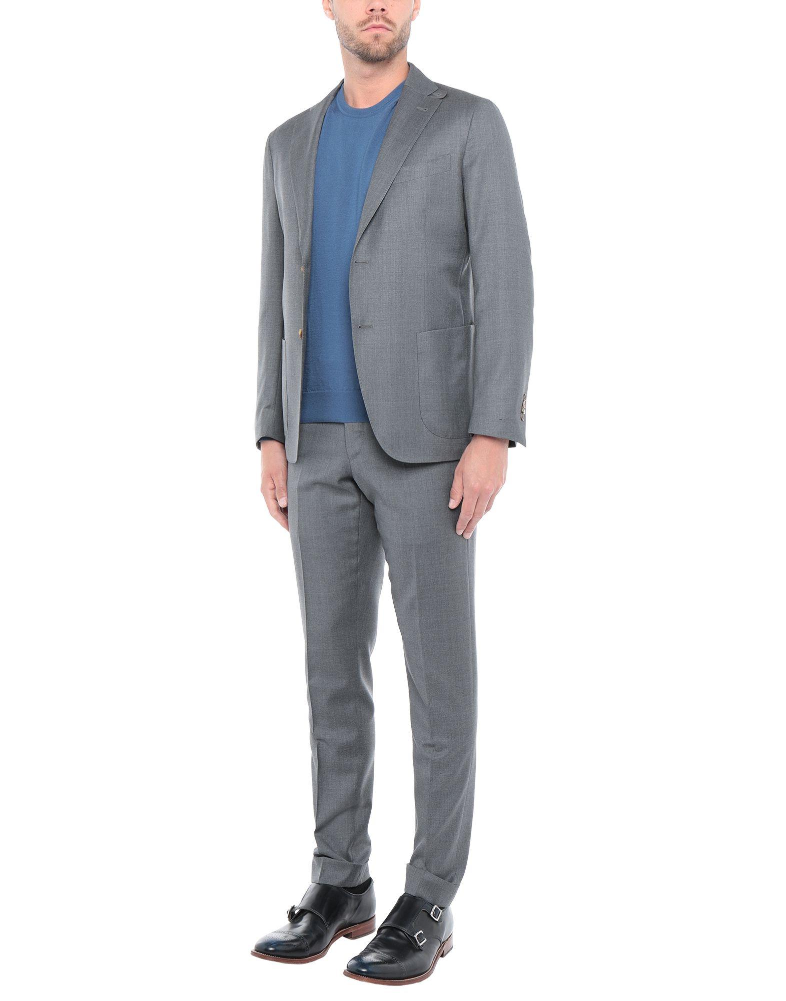 《送料無料》BAGNOLI Sartoria Napoli メンズ スーツ グレー 46 ウール 100%